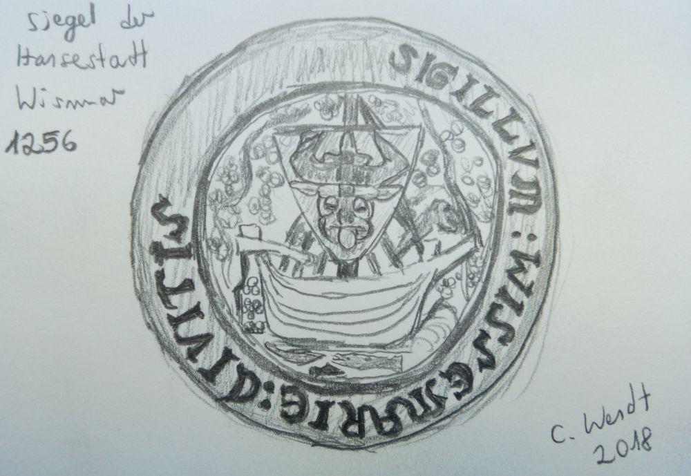 Siegel der Hansestadt Wismar 1256